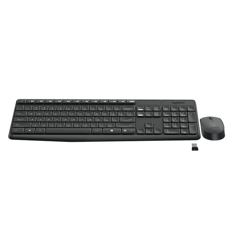 Logitech MK235 Wireless Tastatur mit Maus Combo Anthrazit MK238