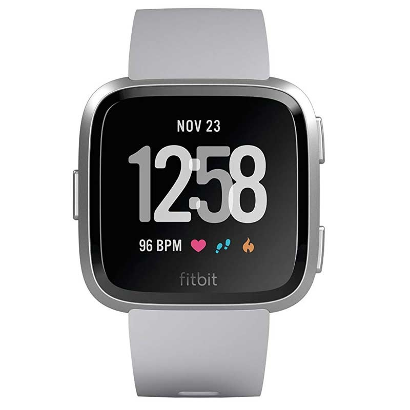 Fitbit Versa Health & Fitness Smartwatch silber FB505SRGY-EU
