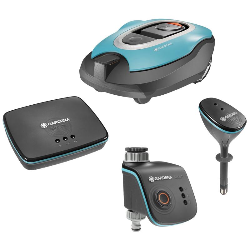 gardena smart system set watercontrol gateway sensor sileno m hroboter. Black Bedroom Furniture Sets. Home Design Ideas