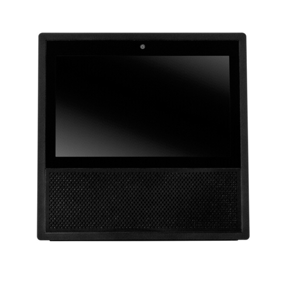 amazon echo show schwarz mit 7 zoll touchscreen und. Black Bedroom Furniture Sets. Home Design Ideas
