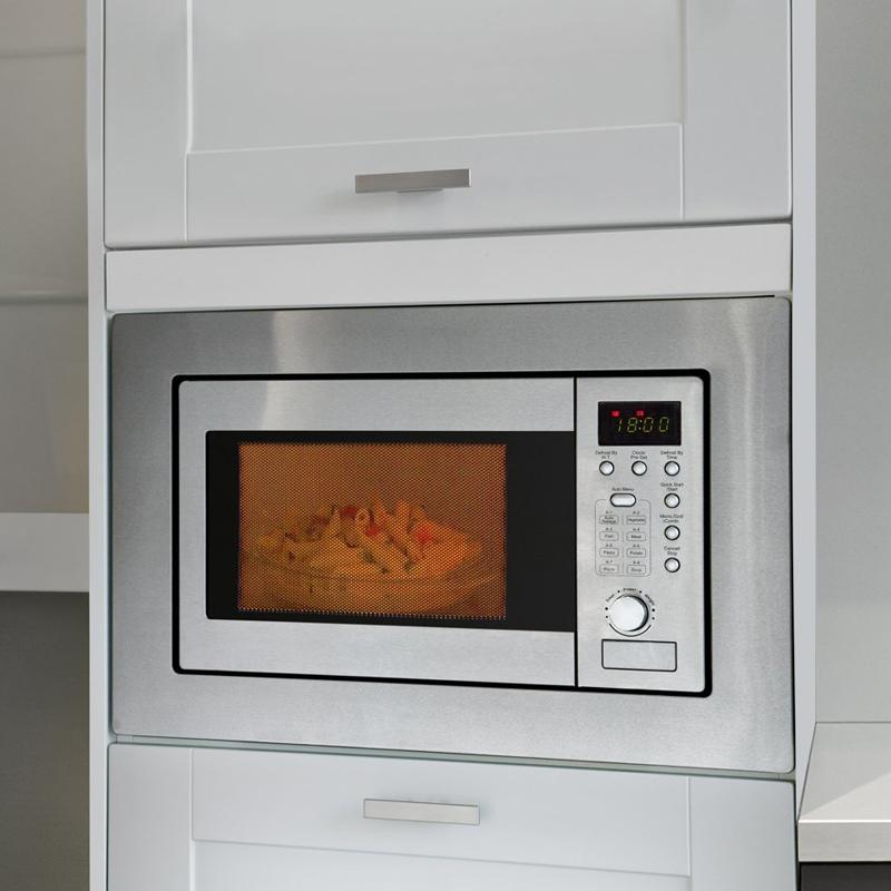 bomann mwg 2215 eb einbau mikrowelle mit grill 20 liter edelstahl mikrowe neu ebay. Black Bedroom Furniture Sets. Home Design Ideas