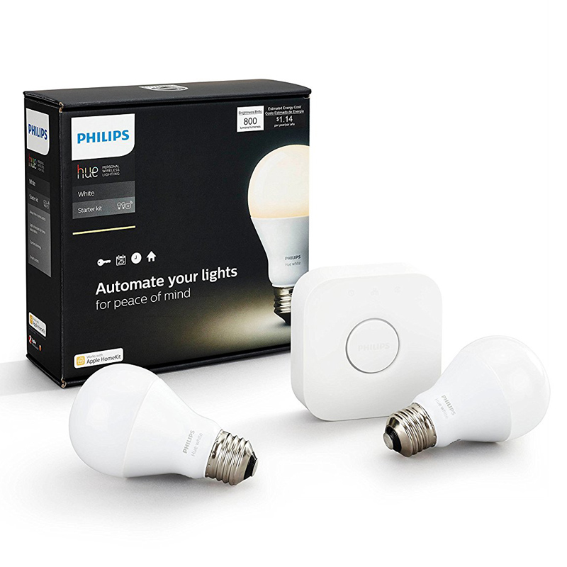 philips hue white led lampe 9 5 w eek a a60 e27 starter. Black Bedroom Furniture Sets. Home Design Ideas