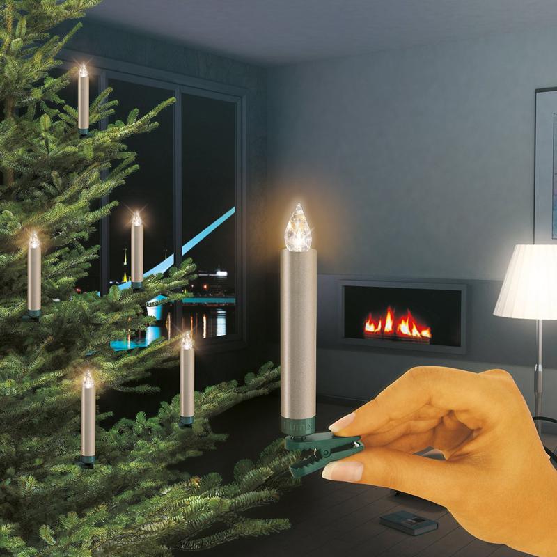 Led christbaumbeleuchtung kabellos christbaumbeleuchtung for Lumix baumkerzen