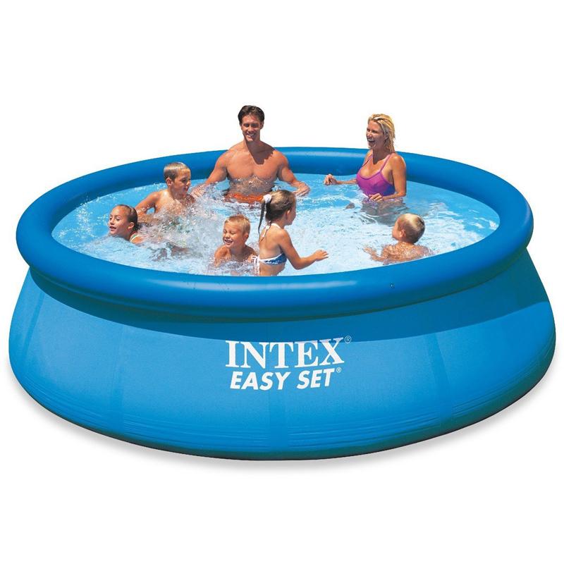 intex aufstellpool easy set pools blau 366 x 91 cm swimmingpool neu ebay. Black Bedroom Furniture Sets. Home Design Ideas