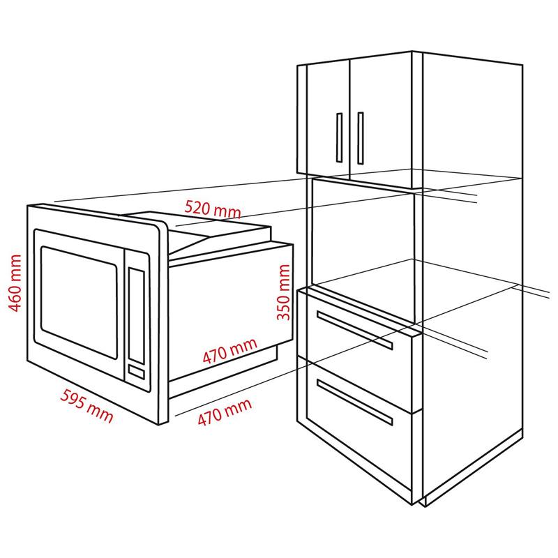 bomann mwg 2216 h eb einbau mikrowelle mit grill und hei luft 25 liter ausstellu ebay. Black Bedroom Furniture Sets. Home Design Ideas