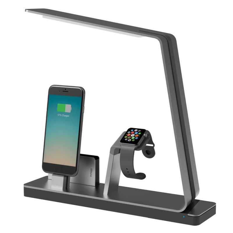 mitagg nudock lampe und ladestation space grau f r smartphones neu ebay. Black Bedroom Furniture Sets. Home Design Ideas