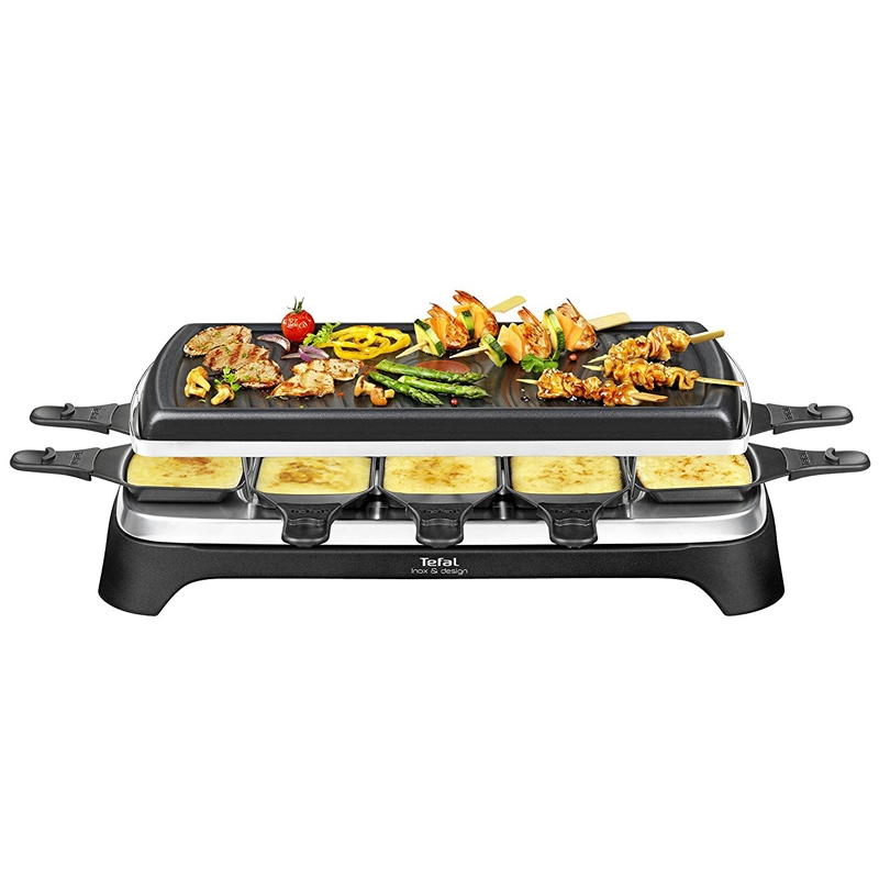 tefal re4588 raclette grill f r 10 personen 1350w schwarz edelstahl neu eur 78 90 picclick de. Black Bedroom Furniture Sets. Home Design Ideas