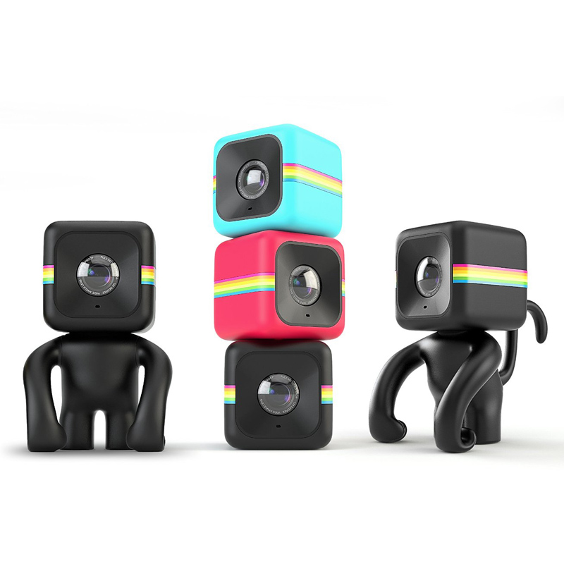 polaroid cube action kamera schwarz mini lifestyle. Black Bedroom Furniture Sets. Home Design Ideas