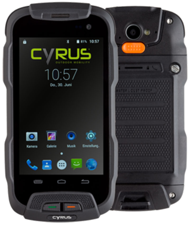 cyrus cs23 outdoor smartphone dual sim lte robustes. Black Bedroom Furniture Sets. Home Design Ideas