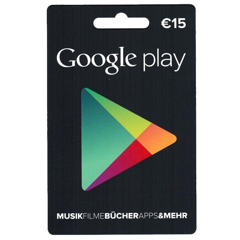Google Play Card 15€ Guthaben