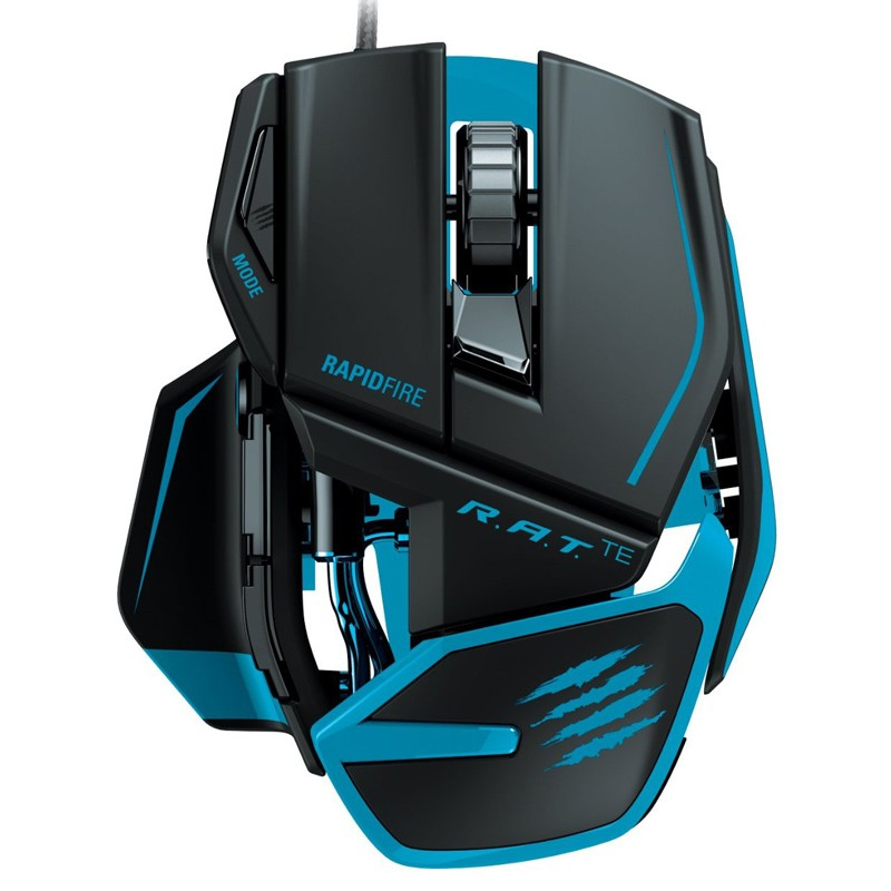 Mad Catz R.A.T. TE Gaming Mouse Mattschwarz
