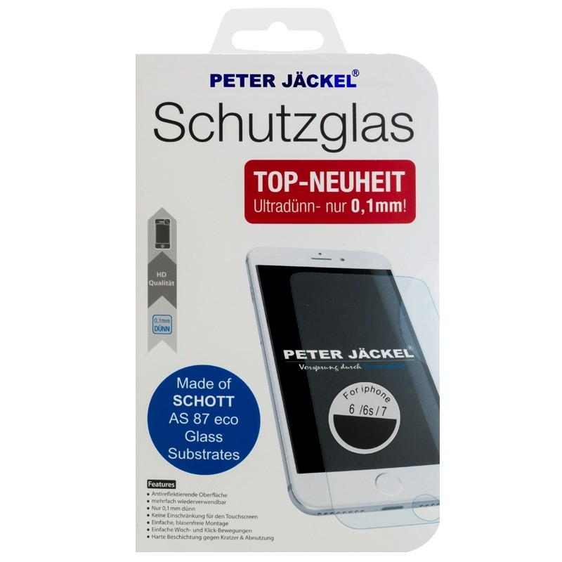 Peter Jäckel HD SCHOTT Glass 0,1 mm für Apple iPhone 5/ 5C/ 5S/ SE