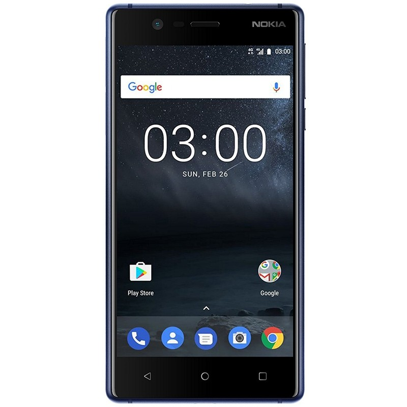 Nokia 3 Single-SIM Smartphone blau