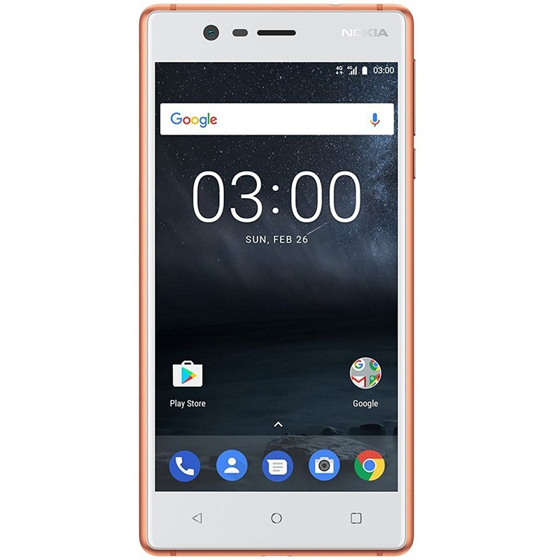 Nokia 3 Single-SIM Smartphone kupfer