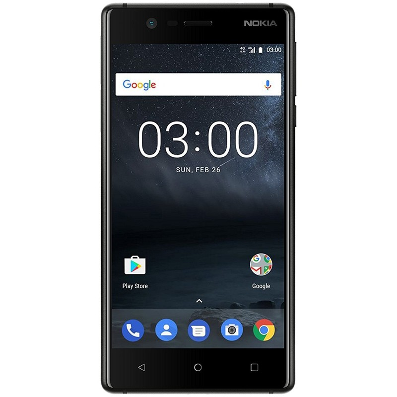Nokia 3 Single-SIM Smartphone schwarz