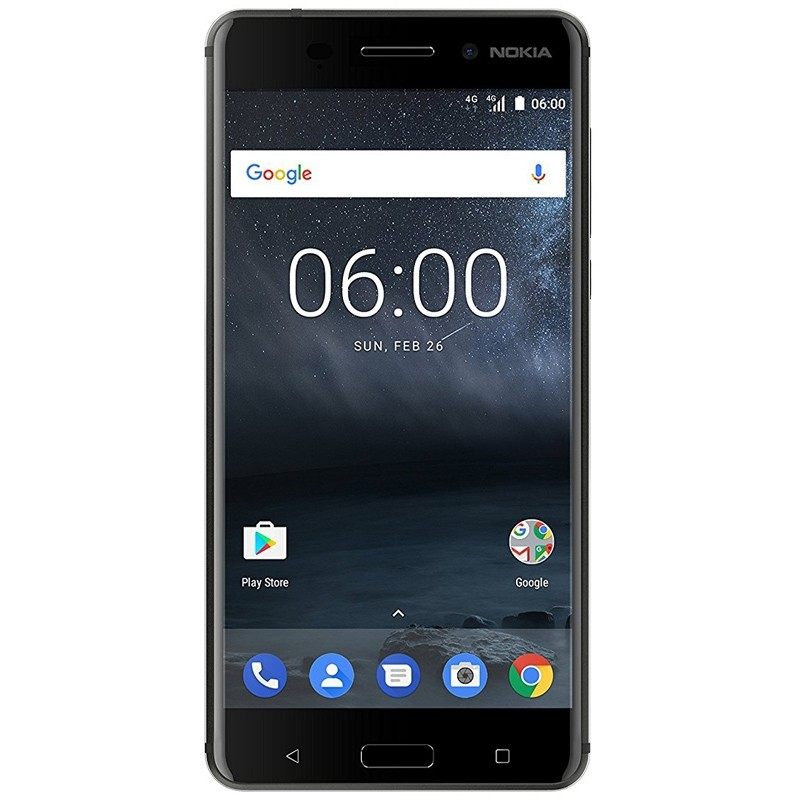 Nokia 6 Single-SIM Smartphone schwarz