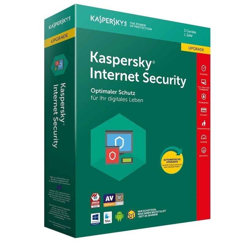 Kaspersky Internet Security 3 Geraete Upgrade Sierra Box (DE)