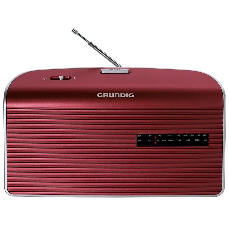 Grundig Music 60 Radio red/silver