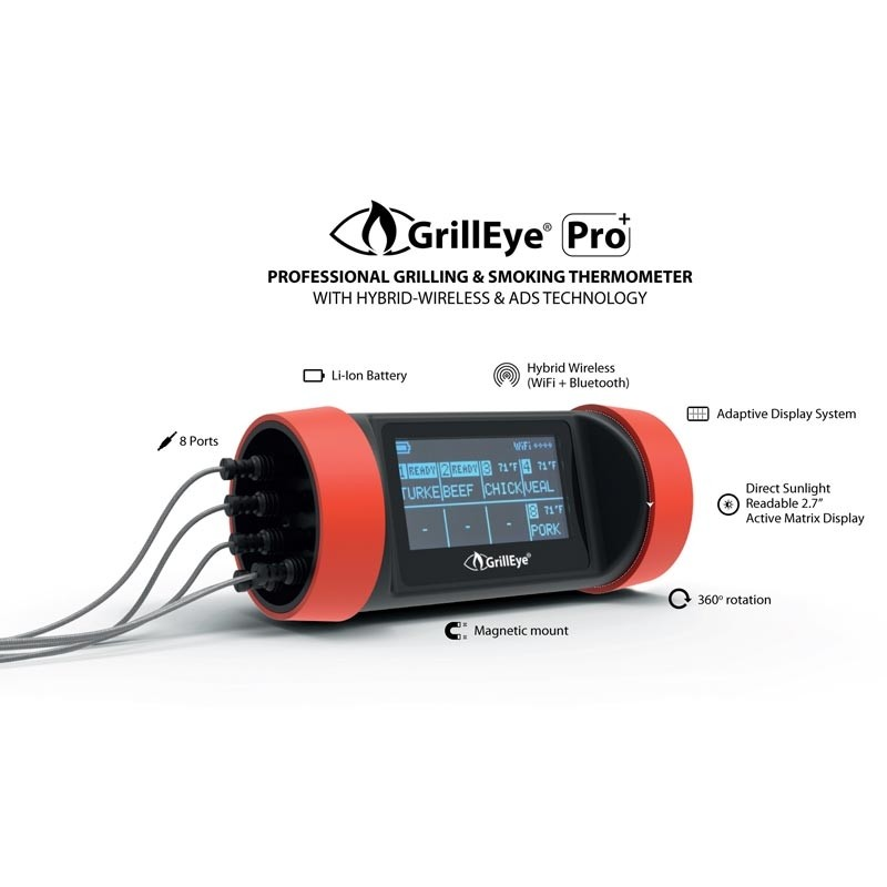 GrillEye Pro Plus professionelles Grill- und Smoker-Thermometer