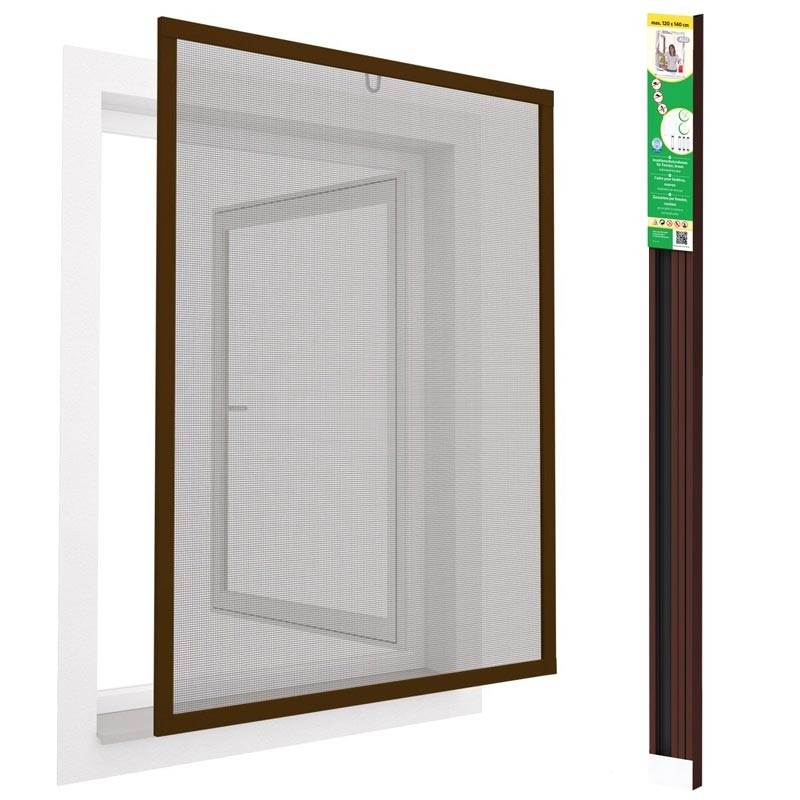 easy life Fenster Fliegengitter greenLINE 120 x 140 cm in Braun