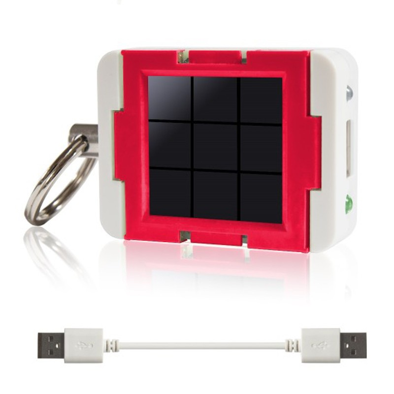 "Clicc ClicLite ""Emotion"" (Red) USB-Solarladegerät"