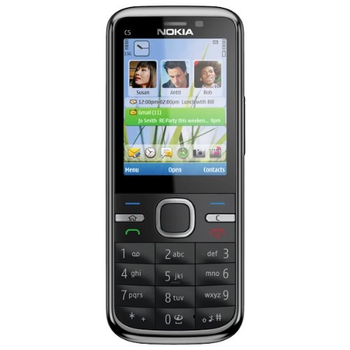 C5-00 5MP schwarz Handy [neue Version]