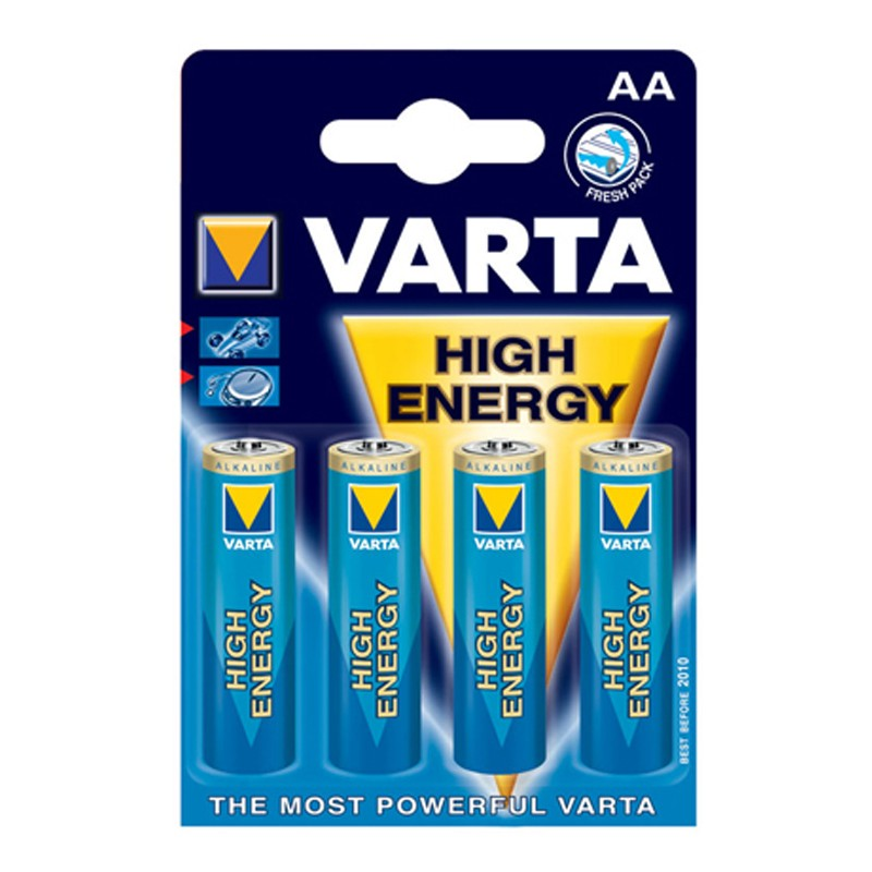 Varta High Energy Mignon AA Batterie 1,5 V 4er Blister