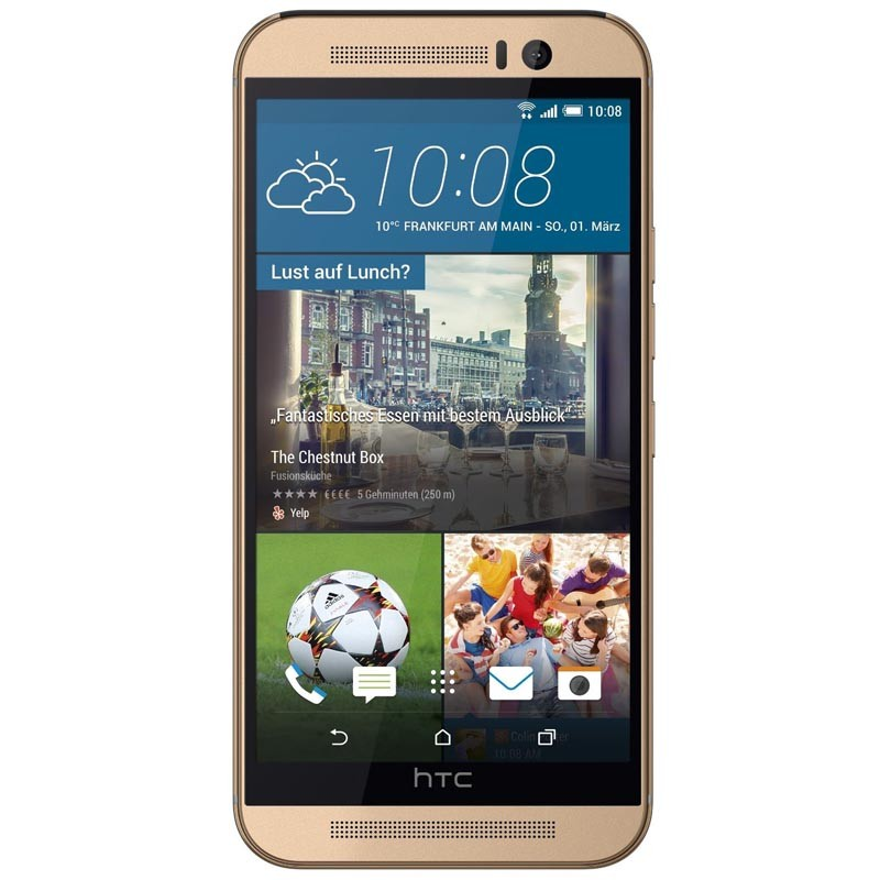 HTC One M9 Handy gold vorne