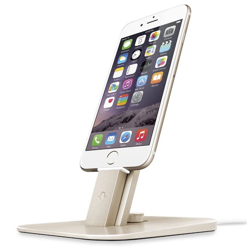 Twelve South HiRise Deluxe Desktop Ladeständer gold