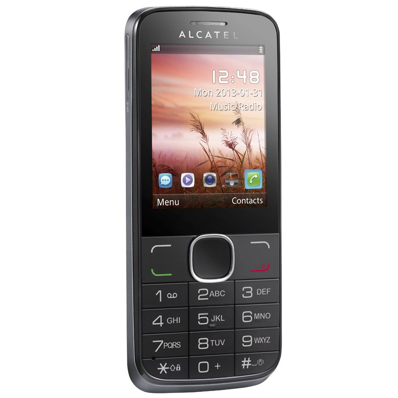 Alcatel 2005D Salsa officer silver Dual-SIM Handy