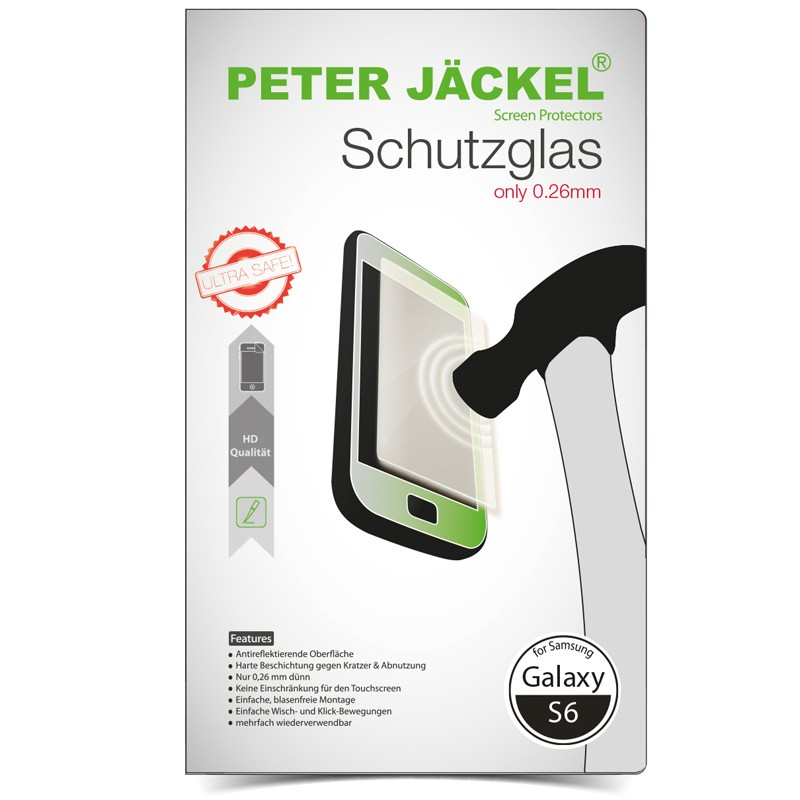 Peter Jäckel HD Glass Protector für Samsung G920 Galaxy S6
