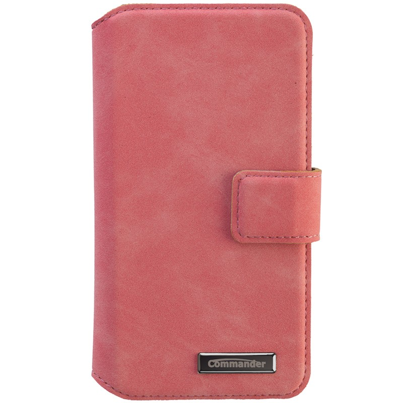 Peter Jäckel Commander Book Case Elite Nubuk Pink Universal Deluxe M 4,3""