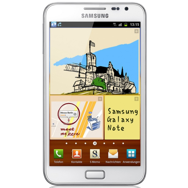 Samsung N7000 16GB Vodafone Handy ceramic white