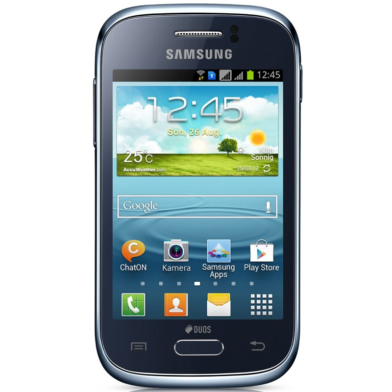 Samsung Galaxy Young DUOS blue Handy