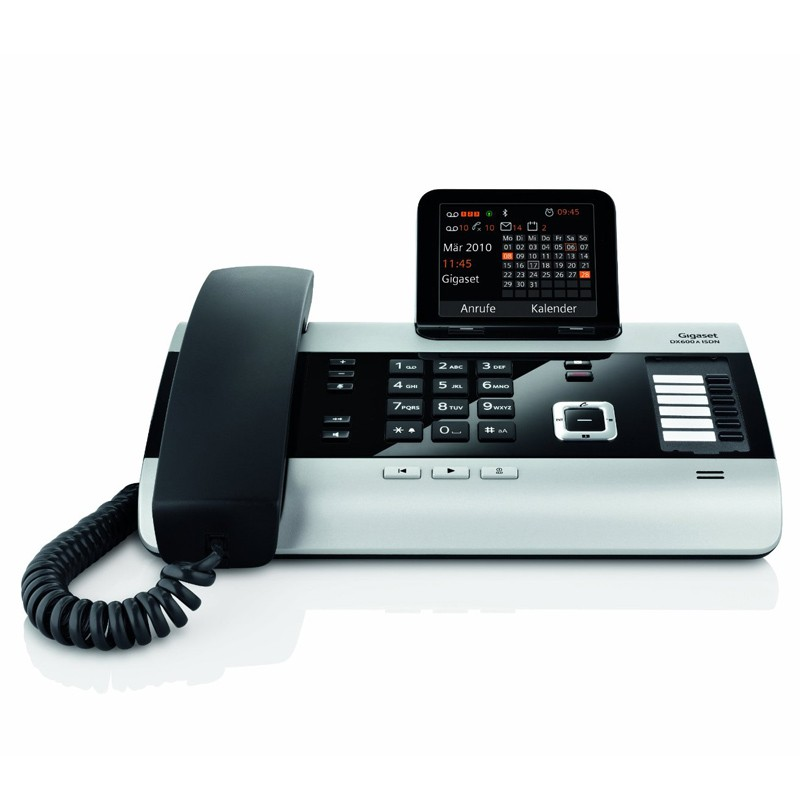 gigaset dx600a isdn titanium mit ab isdn telefon. Black Bedroom Furniture Sets. Home Design Ideas