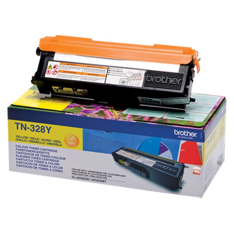Brother TN328Y Toner gelb