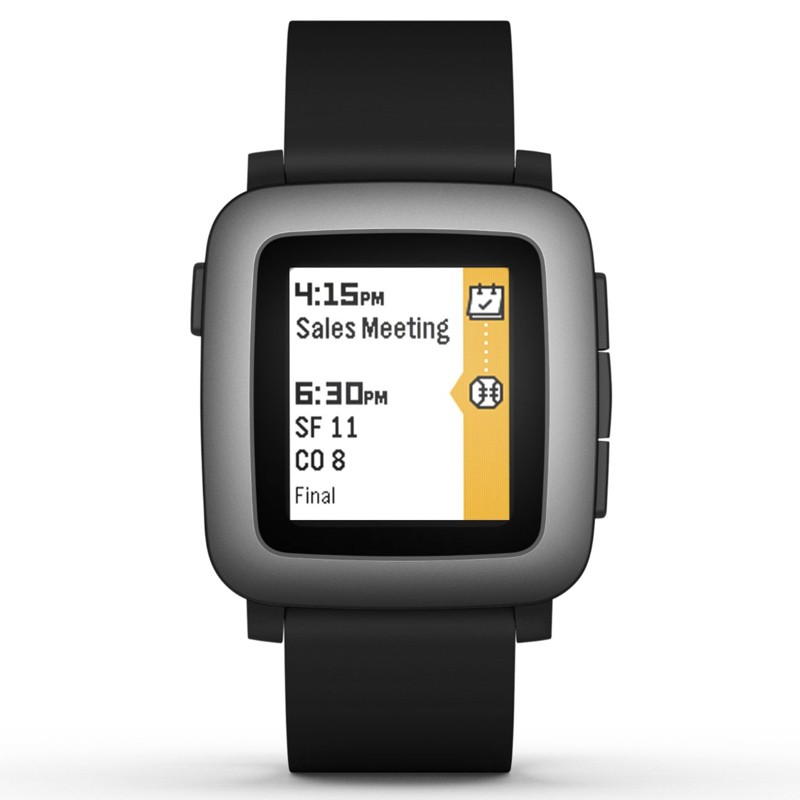 Pebble Time Smartwatch schwarz