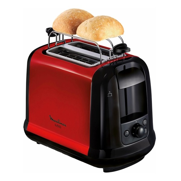 moulinex lt261d toaster subito rot metallic. Black Bedroom Furniture Sets. Home Design Ideas