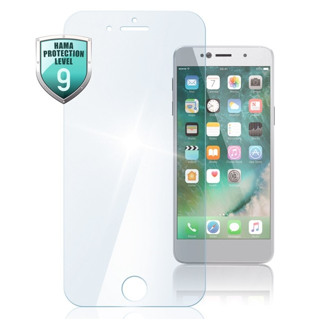 "Hama Echtglas-Displayschutz ""Premium Crystal Glass"" für Apple iPhone 5/5s/5c"