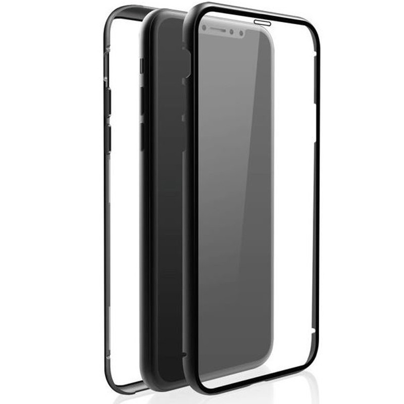 "Black Rock Cover ""360° Glass"" für Apple iPhone XR, Schwarz"