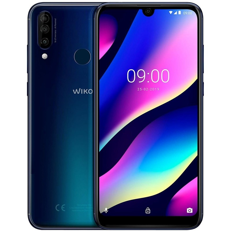 Wiko View 3 64GB Smartphone anthrazit blau
