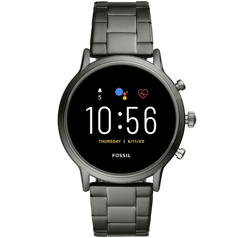 Fossil CARLYLE FTW4024 Edelstahl-Smartwatch smoke