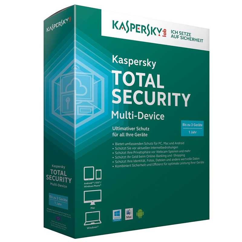 Kaspersky Total Security Multi-Device (Box-Pack) 3 Geräte