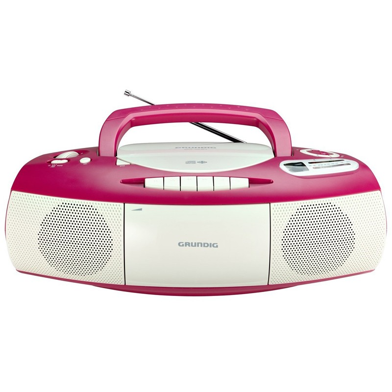 Grundig RRCD 1400 CD-Player pink-weiss