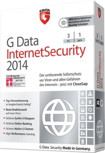 GData Internet Security 2014 3 User 1 Jahr
