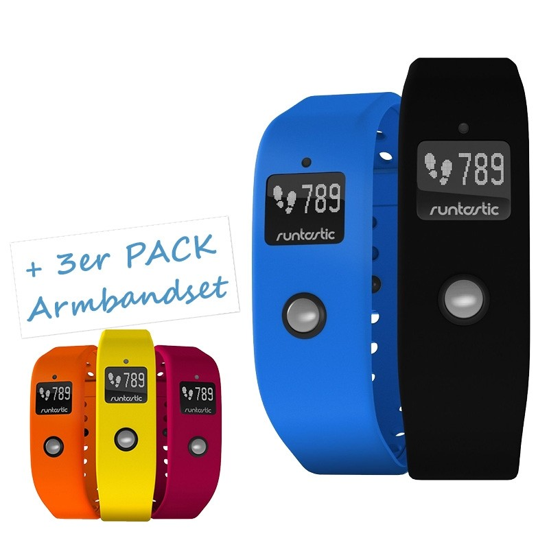 Runtastic Orbit Fitnesstracker + Armbandset gelb/orange/rot