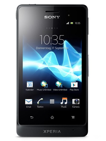 Sony Xperia GO (ST27i) tactile black Handy Outdoor