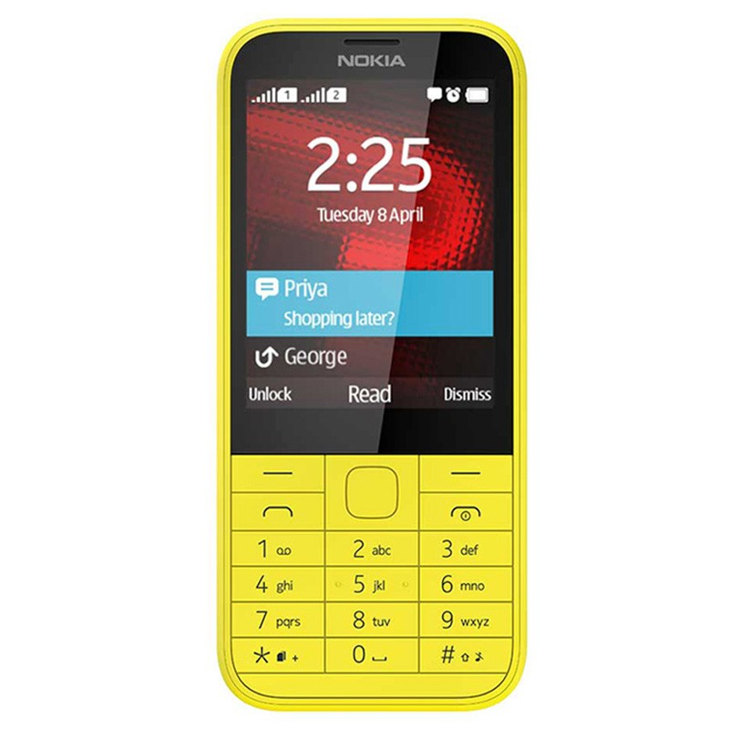 Nokia 225 DUAL yellow Original Handy