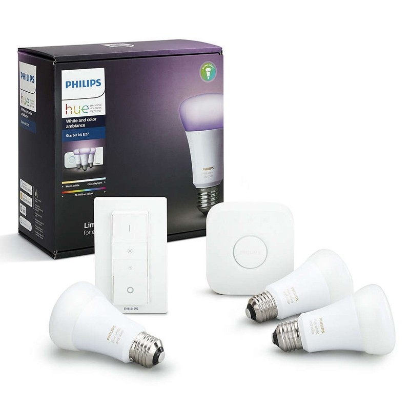 Philips Hue White and Color Ambiance Starter Kit E27 + Schalter (4. Gen)
