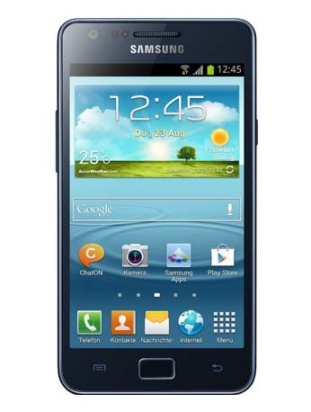 Galaxy SII Plus Telekom Handy blau